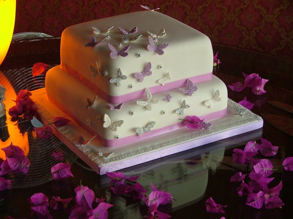 Square Wedding Cakes 2 Tier Two Tier Square Fondant Weddin